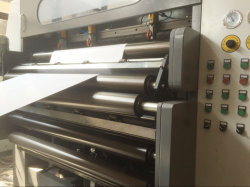 KS-M Servo Control Double Rotary Knife Paper Roll to Sheet Cutting Machine