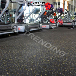 Fire Protection Rubber Gym Sports Flooring Mats Interlocking Tile