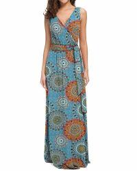 Women's Bohemia Style Sleeveless One-Piece Long Dress