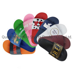 OEM Custom Black Slides Footwear Sandal PVC, Custom Logo Slippers Men Plain Blank Slide Sandal, Slippers Custom Logo Slide Sandal