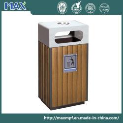 Outdoor Recycling Waste Bin Wooden Body Dust Can