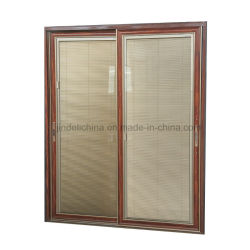Tempered Toughened Safety Double Glass Sliding Door With Internal Blinds  Inside ...
