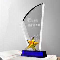 Wholesale Cheap Crystal Glass Star Trophy Parts for Souvenir