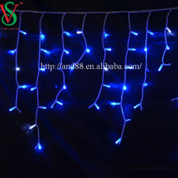 curtain icicle drop fairy light led outdoor christmas light