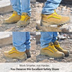 Breathable Steel Toe Caps Leather Safety Shoes Sports Men Work Shoes