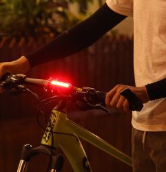 USB Bike Light Plastic Rechargeable Bicycle Rear Light for Wholesale