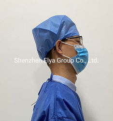 Custom Men's 45g SMS Nonwoven Hospital Bouffant Protective Isolation Surgeon Scrub Head Cover Wholesale Medical Hat Disposable Surgical Cap for Doctor and Nurse
