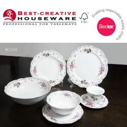 2017 New Design Fine Ceramic Bone China Dinner Plates Table Set