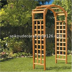 Wooden Square Top Garden Arch Ga1001