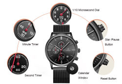 Stainless Steel Waterproof Wristband Fashion Sport Quartz Men Watch (72188)