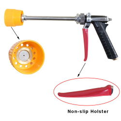Ilot Non-Slip Metal Fertilizer Chemicals Sprayer Gun with Hood