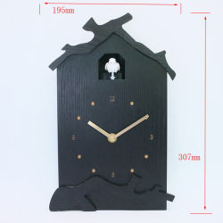 High Quality 310 mm Black Classical Have White Birds Wooden Cuckoo Clock