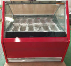 Cafe Shop Commercial Mini Gelato Ice Cream Dipping Cabinet Stainless Steel Glass Counter Top Display Case Popsicle Showcase with Ce RoHS ETL (QP-BB-22)