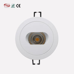 Cut out 90mm Hotel Lighting Anti Glare 9W Dimmable COB LED Downlight
