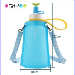 Foldable Outdoor Sport Travel Silicone Water Bag for Children and Adults