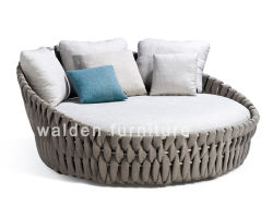 Stylish Outdoor Garden Furniture/Patio Round Daybed/Rope Woven Daybed