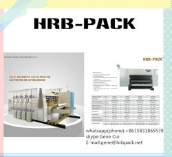 Automatic Lead Feeder Flexo Five Color Printing Slotting Die Cutting with Coating and Drying Machine