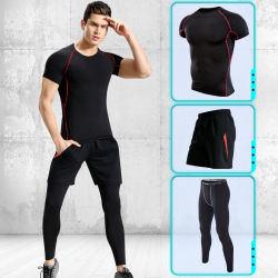 Sportwear Breathable Gym Running Climbing Pant Top and Trousers Set