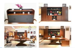 Executive Desk High Quality Office MDF Veneer Wooden Red Coffee Walnut Executive Desk Office Furniture