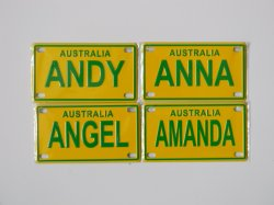 Personalized Hanging Fancy Mini Bike Bicycle Kids Name Plates
