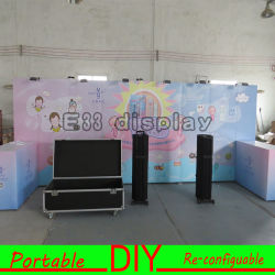 Custom Design Portable Eco Friendly Modular Self Assembly Trade Show  Display Stand For Exhibition