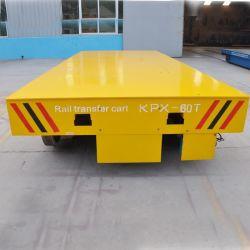 Push Putton Pendant Control DC Motor Electric Railway Cart for Warehouse Transfer