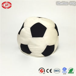 Football Shape White and Black Stuffed Foam Beads Soft Toy