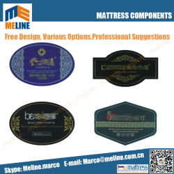 Custom Made All Kinds of Embroidered Mattress Label, Mattress Handle, Mattress Tag, Warranty Card, Foot Guard, Mattress Paper Corner and So on.