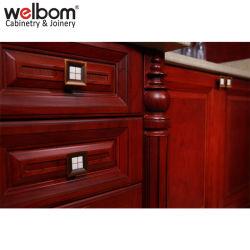 Welbom Antique Red Solid Wood Kitchen Furniture