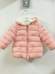 Cute Print Pink Coat Solid Color Wool Winter Girl Coat