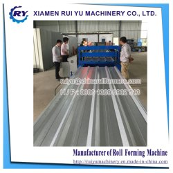 Metal Steel Trapezoidal Roofing Panel Roll Forming Machine Metal Roof Sheet Rolling Forming Line