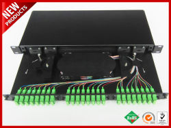24 Ports SC APC Adapter Fiber Optic Patch Panel Drawer ODF FTTH