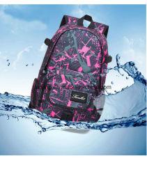 Bwf1-221 Fashionable Girls' School-Bag Solid Color Shoulder Bag Knapsack Bag
