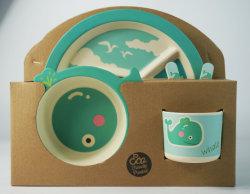 Eco-Friendly Bamboo Fiber Kids Dinnerware Sets