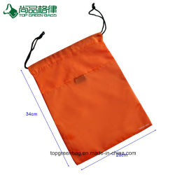 Recycled Polyester Dust Sport Gym Fabric Shoes Drawstring Bag