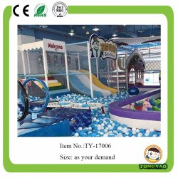 Large Multi-Functional Ocean Ball Pool Indoor Playground Park with Devil Slide (TY-17724)