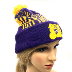 Custom Made Order Fashion Popular Men and Women Mixed Colors Wool Ball Warm Cap Winter 3D Embroidered Hat Beanie Hat Knitted, Hat Cap