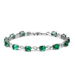 925 Sterling Silver Fashion Jewelry Gemstone Brass Bracelet Jewelry