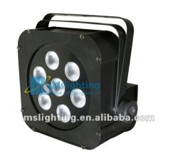 7*3in1 RGB Tricolor LED Plat PAR Light with Battery 5-6hours
