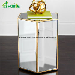 Living Room Glass Mirror Top End Table Coffee Table Wholesale Table