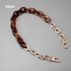 Women Bag New Acrylic Chain Accessories Metal Fittings Pink Size 45cm