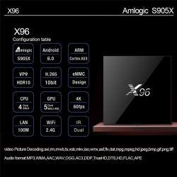 X96 1GB RAM+8GB ROM TV Box Kodi 17.3 Android 7.1.2 Smart Media Player Support 4K 1080P HD, WiFi