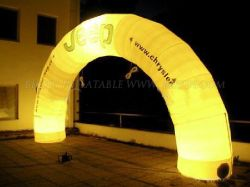 Best Design Big Yellow LED Inflatable Lighting Arch, Custom Logo Advertising Inflatable Entrance Start Finish Line Inflatable Arch K4001