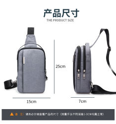 Men Backpack Simple Fashion Waterproof Fabric Daily Sport Chest Bag