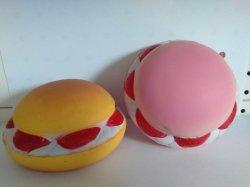 PU Foam Strawberry Hamburger Squishy Slow Rising Toys