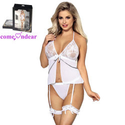 d744104420b Wholesale in Stock White Sheer Mesh Halter Ladies Sexy Undergarment