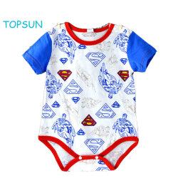 6499a4650 European and American Baby Summer Short Sleeve Triangle Garment Superman  Cartoon Pure Cotton Apparel Wear Kids