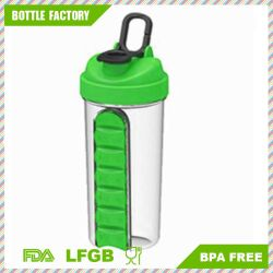 2017 New Patented Products Protein Shaker Cup with Pill Box