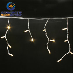 144 LED Warm White Color 16 Drops Icicle Curtain (L3mxH20/40/60cm)