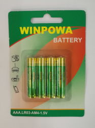 Good Price TV Remote Control Battery 1.5V Lr03 AAA Dry Battery